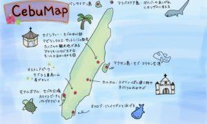 セブ島のマップ