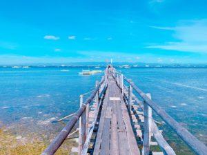 オランゴ島の桟橋